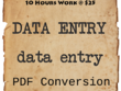 Provide one day (10 hours) data entry task