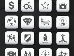 Design set of 15 icons only
