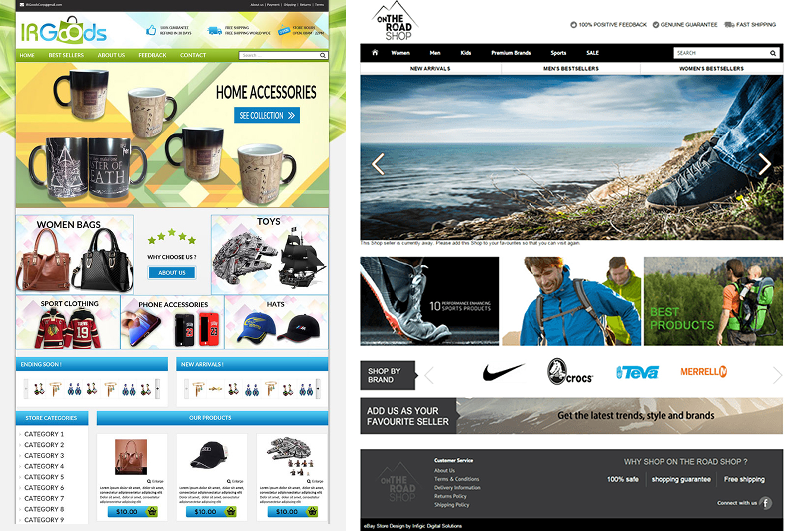 design professional responsive eBay store and listing template