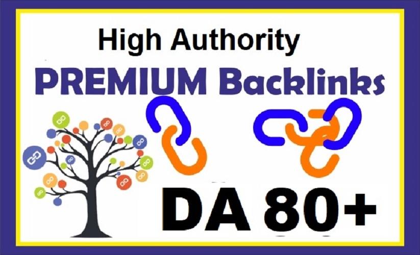 create 20 Premium link and High Authority Backlinks DA80+