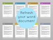 Update and redesign your word document to a high quality standard