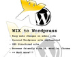 Convert WIX based site into Wordpress