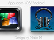 Design an iPhone app icon with 3 variations and unlimited revisions