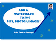 Add watermark  or logo  100 photos