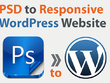 Develop a full responsive and full featured, SEO Ready WordPress theme from a PSD