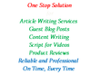 Write a 350 words article, website content, video scripts, job description
