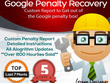 Help Recover from Google Penalty or Ranking Problem & disavow