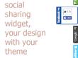 Create customized javascript social widget for you