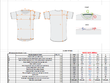 Create a garment size chart for your manufacture to work from