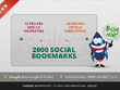 Create 75 PR3 to PR8 seo LlNKWHEEL and 2000 social bookmarks, Great for youtube