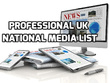 Create a professional bespoke UK media list