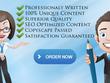 Write unique SEO 400-500 words web content, article or blog