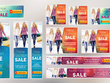 Create a stunning banner ad set for your business, brand