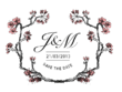 Design/illustrate a wedding logo/crest/stamp in this style