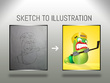 Redraw your raster image or sketch to vector or HD image