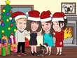 Create a cartoon illustration of your family or you with your beloved