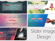Design 6 professional, creative banner/slider image for websites