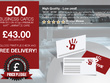 Provide 500 business cards on 400gm Premium Matt Laminated Card
