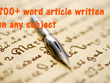 Write a 800+ words high quality article / blog post with images - on any subject
