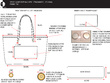 Create a handbag, bag, or accessory design and technical drawing from your rough idea