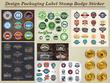 Design Packaging Label Stamp Badge Sticker