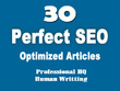 Seo article - 30x seo articles - hq manual written - 100% human readable - 500+ words