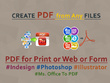 Create or edit PDF files from any design files in 12 hours