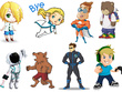 Design a cartoon character/mascot in every cartoon styles