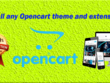 Install any Opencart theme and extensions and make your site similar to the demo