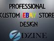 Design and install a bespoke custom ebay shop/store template