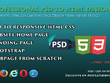 Convert psd to HTML or wordpress Landing page