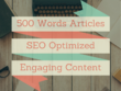 Research & Write a 500 Words High Quality & SEO Friendly Article or Blog Post