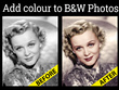 Change a black and white photo into colour