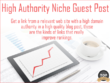 Guest Post on Niche Relevant High TF Blog (5 for the price of 4)