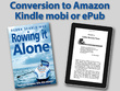 Convert your book to Amazon Kindle mobi or epub