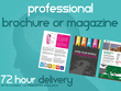 Design a stunning, professional, brochure or magazine (12pp)