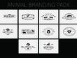 Animal Branding, Vintage Badges & New Year Badges Style Logo Templates