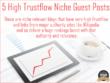 Build 5 Very High Trustflow Niche Relevant Guest Posts