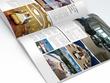 Design a magazine double-page spread