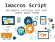 Write imacros script to Automate Web Tasks