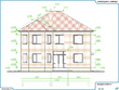 Provide you 2 floor plans and 4 evations of 2 story house