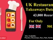 Give you UK Restaurants Database with almost 40k Unique Records