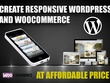 Create responsive website in wordpress with woocommerce support.