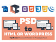 Make PSD to fully responsive HTML or Wordpress site