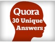 Will Answer 30 Quora Questions + Add Your Link - Quora Marketing