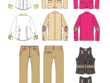 Created fashion  technical drawing flats