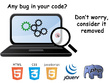 Fix your site code errors and bugs