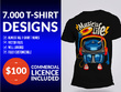 Deliver 8000 T-Shirt Designs and Vector Source Files