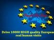 Bring 10000 HIGH quality most UK Europe human organic website traffic