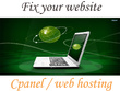 Give support Domain and hosting, website installation & upload your website in cpanel
